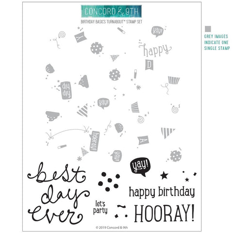 Concord & 9th - BIRTHDAY BASICS TURNABOUT Stamps set