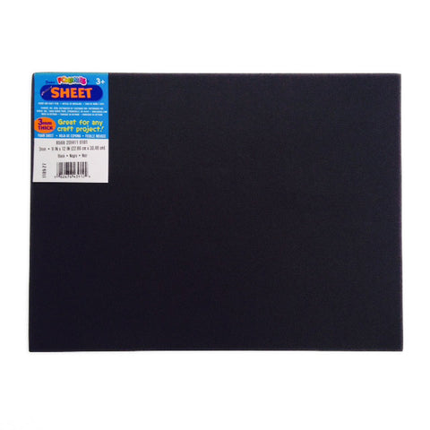 Foamies Foam Sheet - BLACK - 3mm thick - 9 x 12 inches - Fun Foam - Hallmark Scrapbook