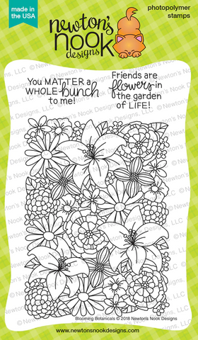 Newton's Nook Designs - BLOOMING BOTANICALS Clear Stamps Set