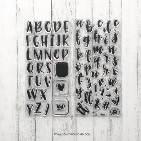 Concord & 9th - BOLD & BRUSHY Clear Stamps Uppercase and Lowercase Alphabets BUNDLE