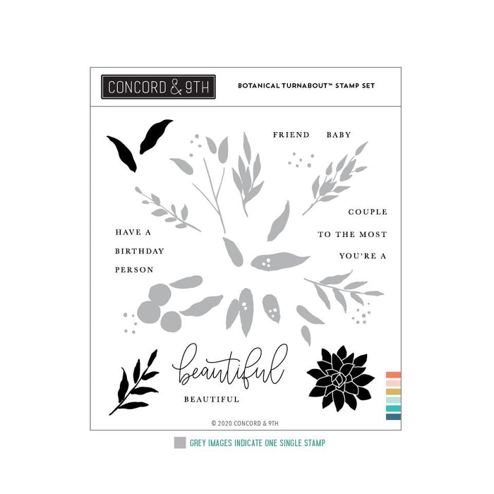 Concord & 9th - BOTANICAL Turnabout - Stamps Set