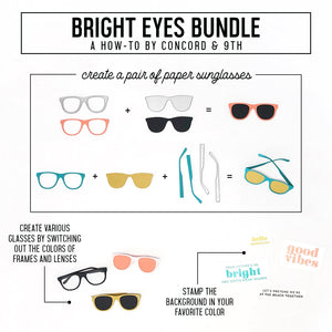 Concord & 9th - BRIGHT EYES - Stamps and Dies BUNDLE Set