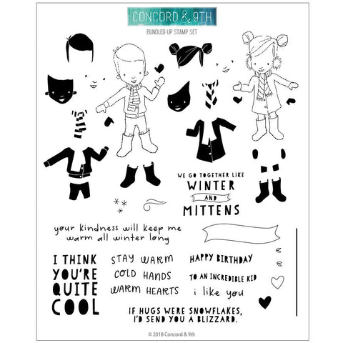 Concord & 9th - BUNDLED UP Clear Stamps Set