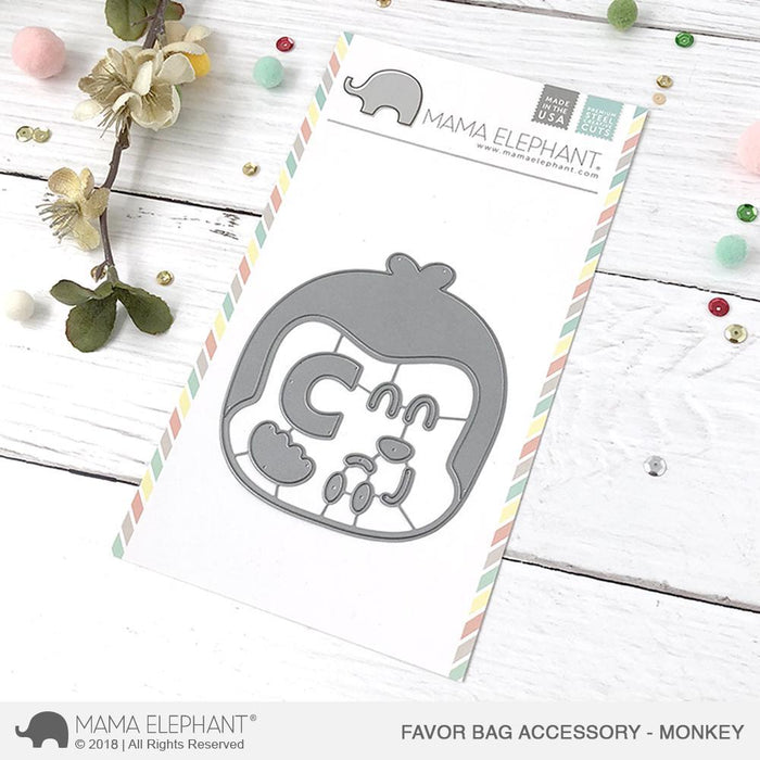 Mama Elephant - Favor Bag Accessory MONKEY - Creative Cuts Dies Set - 20% OFF!