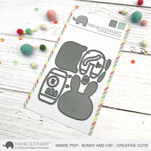 Mama Elephant - INSIDE POP - Bunny and Cat - Creative Cuts Dies