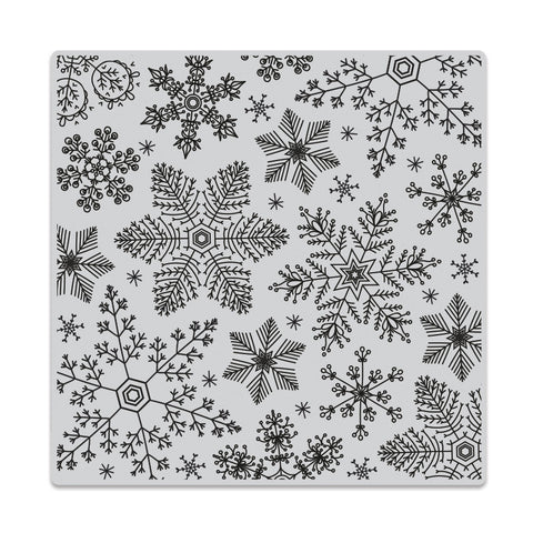 Hero Arts - Rubber Cling Stamp - HAND DRAWN SNOWFLAKES Bold Prints - Hallmark Scrapbook