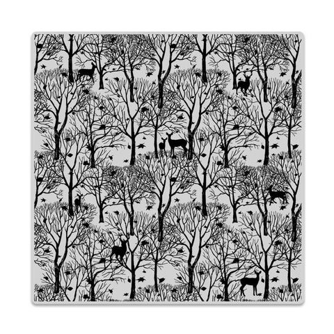 Hero Arts - Rubber Cling Stamp - FOREST AND DEER Bold Prints - Hallmark Scrapbook