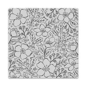 Hero Arts - CHRISTMAS ROSE Bold Prints Background - Cling Rubber Stamp