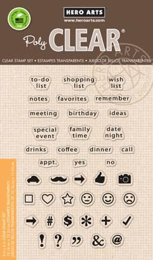 Hero Arts - TO DO LIST Planner - Clear Stamps - Hallmark Scrapbook - 1