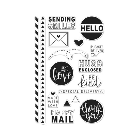 Hero Arts - HAPPY MAIL - Clear Stamps - Hallmark Scrapbook - 1