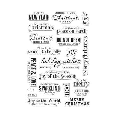 Hero Arts - CHRISTMAS MESSAGES - Clear Stamps - Hallmark Scrapbook