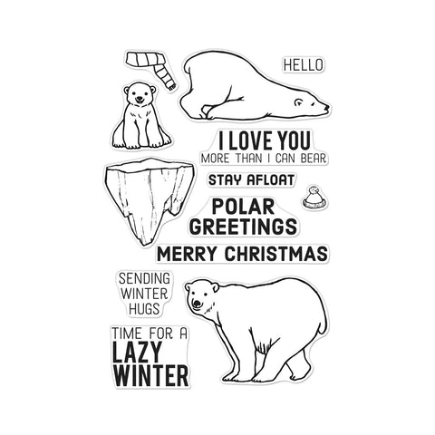 Hero Arts - POLAR GREETINGS - Clear Stamps