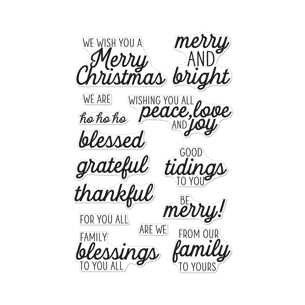 Hero Arts Winter Holiday Messages Clear Stamps Hallmark Scrapbook