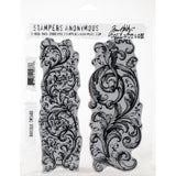 Tim Holtz Stampers Anonymous Cling Mount Rubber Stamp Set - BAROQUE Flourishes