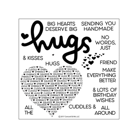 Concord & 9th - CUDDLES & HUGS Stamps set