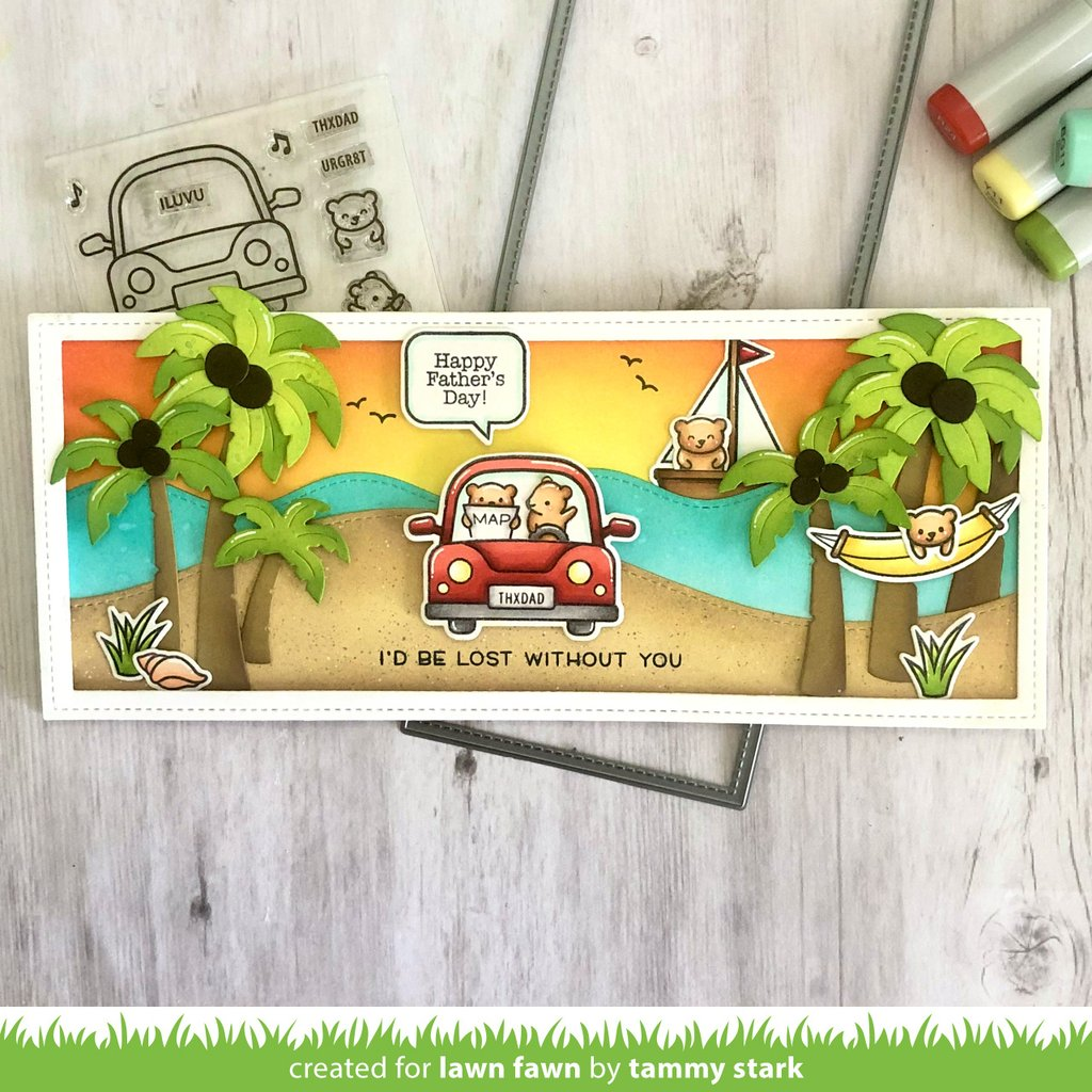 Lawn Fawn - CAR CRITTERS - Stamps Set – Hallmark Scrapbook