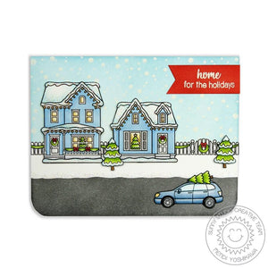 Sunny Studio - CHRISTMAS HOME - Stamps Set