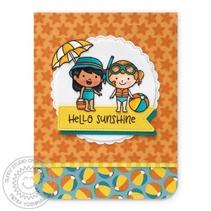 Sunny Studio - SUMMER SPLASH PAPER - 24 Double Sided Sheets 6x6