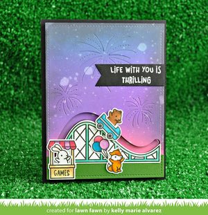 Lawn Fawn - COASTER CRITTERS SLIDE ON OVER ADD-ON - Die