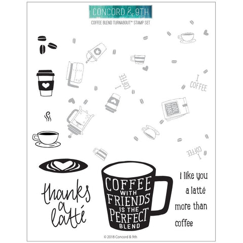 Concord & 9th - COFFEE BLEND Turnabout Stamps Set