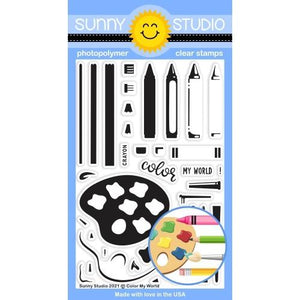 Sunny Studio - COLOR MY WORLD - Stamps set