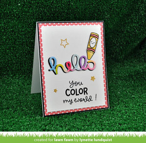 Lawn Fawn - COLOR MY WORLD - Clear STAMPS 4pc