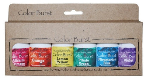 Ken Oliver Crafts - Color Burst - BRIGHTS - 6 Pack Set - Hallmark Scrapbook