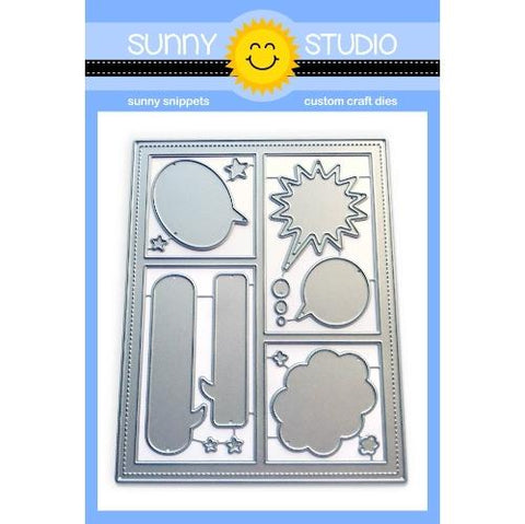 Sunny Studio - Comic Strip SPEECH BUBBLES - Die Set