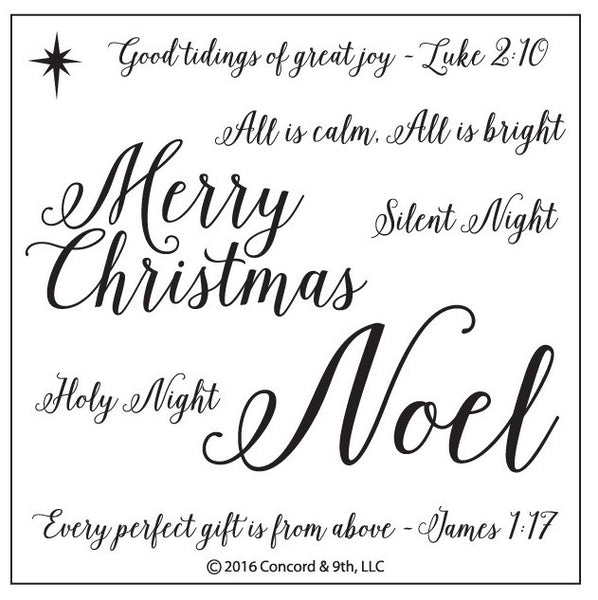 Concord & 9th - HOLY NIGHT Stamp set