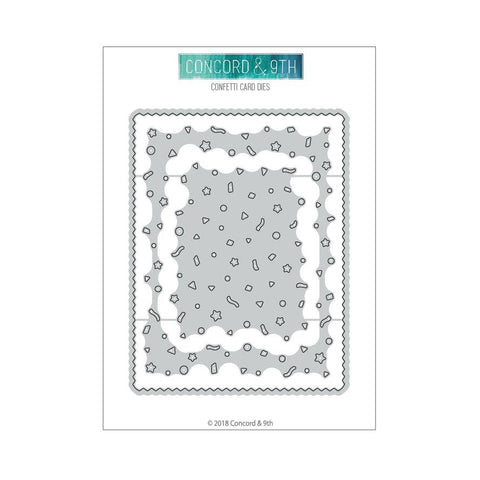 Concord & 9th - CONFETTI CARD Die set