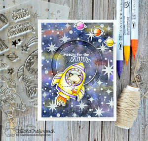 Newton's Nook Designs - STARFIELD Stencil - Star Field