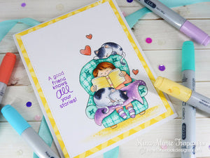 Newton's Nook Designs - A COZY DAY IN Clear Stamps - Hallmark Scrapbook - 5
