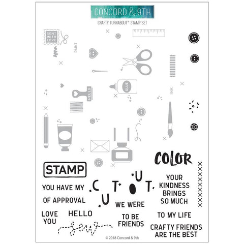 Concord & 9th - CRAFTY TURNABOUT Stamps set