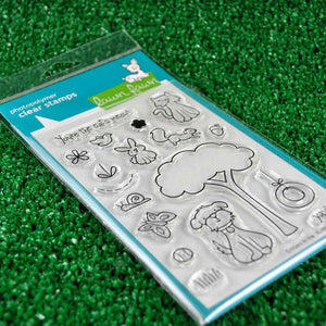Lawn Fawn - Critters in the 'Burbs - CLEAR STAMPS 18 pc - Hallmark Scrapbook - 3