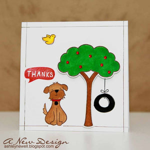 Lawn Fawn - Critters in the 'Burbs - CLEAR STAMPS 18 pc - Hallmark Scrapbook - 5