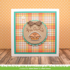 Lawn Fawn - CUTIE PIE - Stamp Set - Hallmark Scrapbook - 7