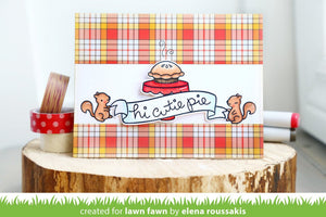 Lawn Fawn - CUTIE PIE - Stamp Set - Hallmark Scrapbook - 5