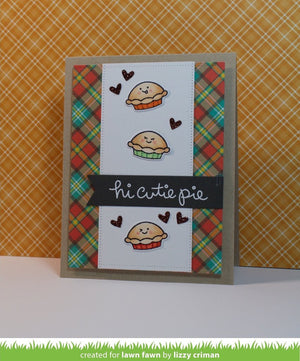 Lawn Fawn - CUTIE PIE - Stamp Set - Hallmark Scrapbook - 8