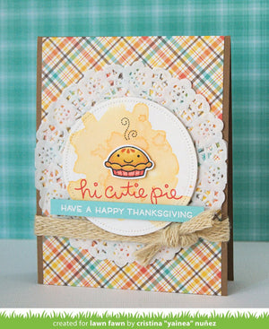 Lawn Fawn - CUTIE PIE - Stamp Set - Hallmark Scrapbook - 9