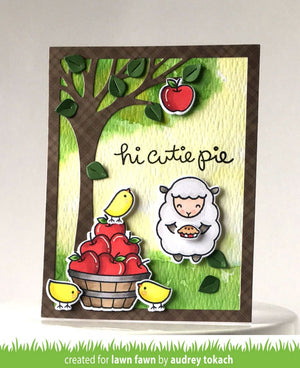 Lawn Fawn - CUTIE PIE - Stamp Set - Hallmark Scrapbook - 10
