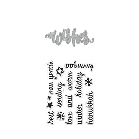 Hero Arts - WISHES - Stamp & Cut Bundle