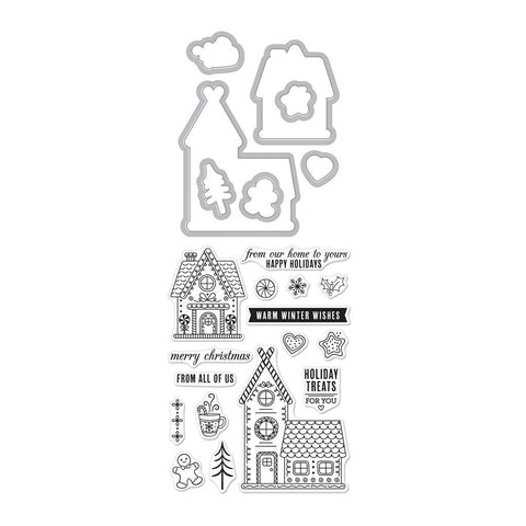 Hero Arts - GINGERBREAD HOUSE - Stamp & Cut Bundle