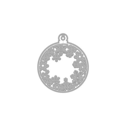 Hero Arts - SNOWFLAKES AND ORNAMENT FANCY (D) -Die
