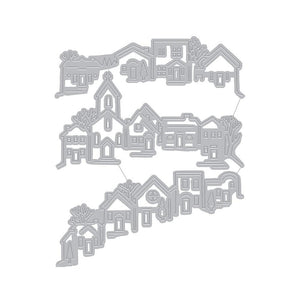 Hero Arts - TRI-FOLD EDGE VILLAGE - Fancy Dies