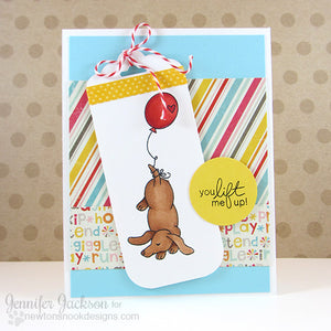 Newton's Nook Designs - DELIGHTFUL DOXIES Clear Stamps - Hallmark Scrapbook - 10