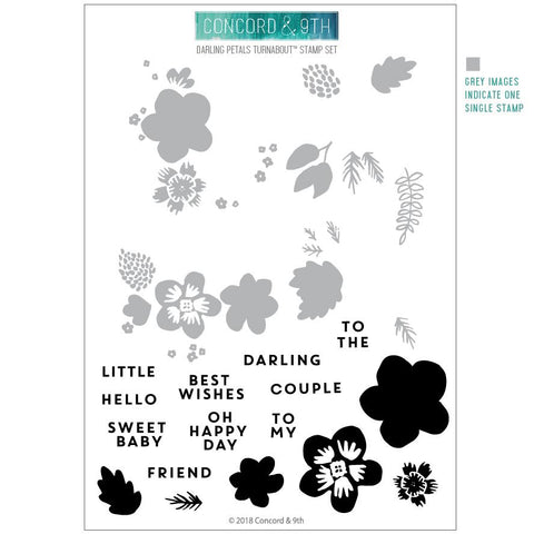 Concord & 9th - DARLING PETALS Clear Stamps set