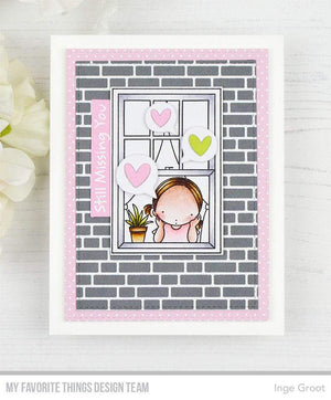 My Favorite Things - ENGLISH BRICK WALL BACKGROUND - Rubber Stamp