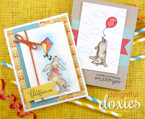 Newton's Nook Designs - DELIGHTFUL DOXIES Clear Stamps - Hallmark Scrapbook - 3