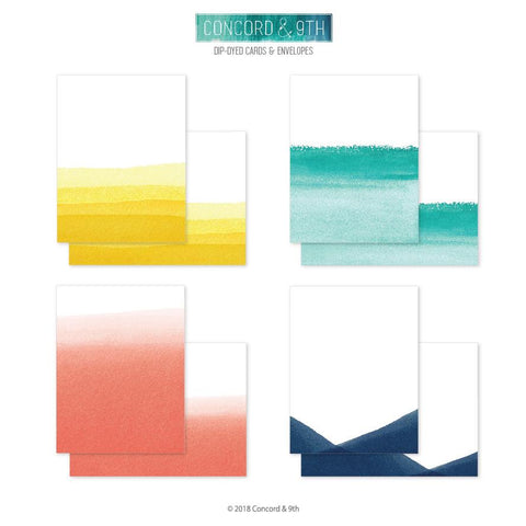 Concord & 9th - DIP-DYED Card and Envelope set 20 pc - 40% OFF!*