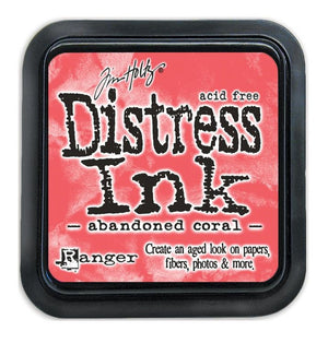 Tim Holtz Ranger Distress Ink Pad - ABANDONED CORAL -  February 2015 - Hallmark Scrapbook